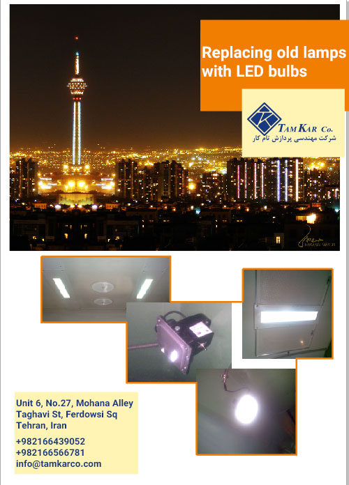 Replacing old bulbs with LED bulbs